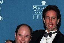 Jerry Seinfeld, Jason Alexander Seen Outside Tom's Restaurant in NYC!