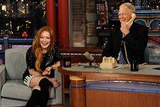 David Letterman And Lindsay Lohan Talk Sobriety, Prank-Call Oprah