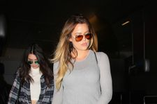 Khloe Kardashian Chooses White Skinny Jeans As Airport Attire