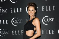 Pregnant Stacy Keibler Rocks Sexy Cut-Out Dress At Elle Event