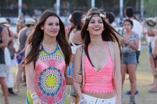Victoria Justice Hits Coachella In Hot Pink Top And Short Shorts!