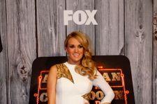 Carrie Underwood Displays Huge Baby Bump At ACCAs