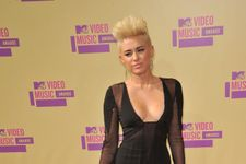 Miley Cyrus Supports Patrick Schwarzenegger At His Pizza Shop Opening