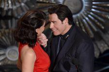 John Travolta Gets Close (And Creepy) With ScarJo And Idina Menzel