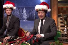 Chris Hemsworth And Jimmy Fallon Compete In Hilarious Sleigh Race