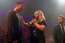 David Schwimmer And Rebel Wilson Drop The Mic With James Corden