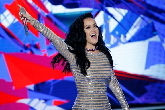 Orlando Bloom Adorably Supports Katy Perry At Democratic Convention
