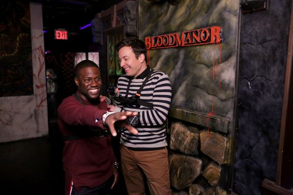 Jimmy Fallon And Kevin Hart Visit New York's Scariest Haunted House