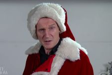 Liam Neeson Hilariously Auditions As Santa Claus On 'Late Show With Stephen Colbert'