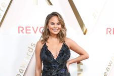 Chrissy Teigen Just Wore The Most Perfect Sequined Red Carpet Dress