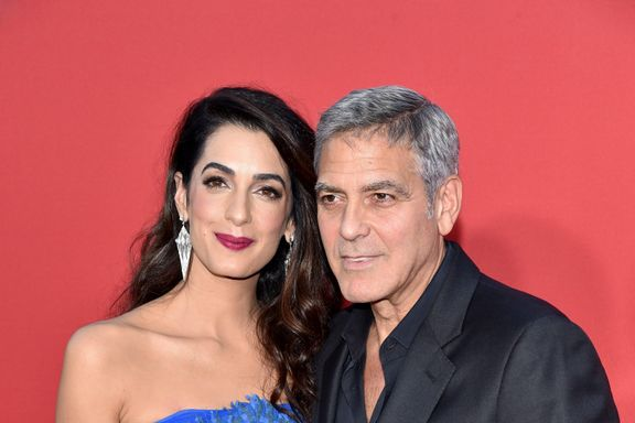 George And Amal Clooney Give Out Headphones To Passengers On Flight With Twins