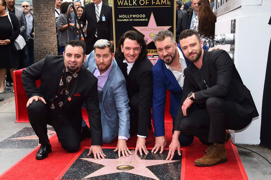 'NSYNC Reunites For Walk Of Fame Ceremony