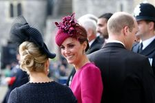 Kate Middleton Stunned In Burgundy At Princess Eugenie's Wedding