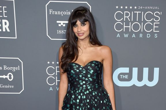 You Won't Believe The Shoes Jameela Jamil Hid Under Her Critics' Choice Awards Dress