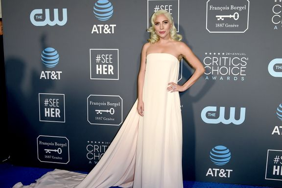 Lady Gaga Just Wore A Surprisingly Simple Gown To The Critics' Choice Awards