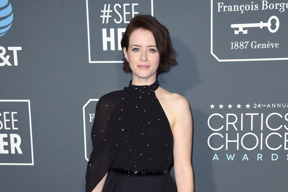 Claire Foy Shakes Things Up With An Asymmetrical Jumpsuit At The Critics' Choice Awards