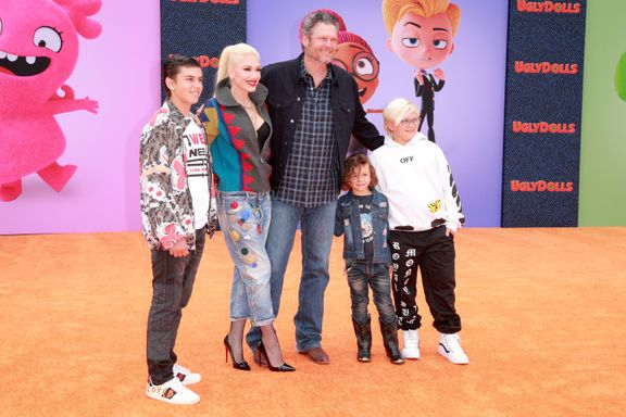 Blake Shelton And Gwen Stefani Make Rare Red Carpet Appearance With Stefani's Three Kids
