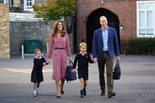 See Princess Charlotte On Her First Day Of School With George, Kate & William