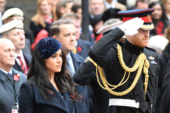 Meghan Markle Dazzles In Navy At The Field Of Remembrance Service