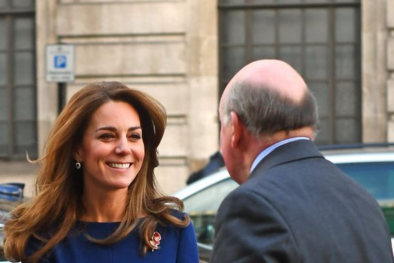 Kate Middleton Wears Royal Blue Dress For Surprise Appearance
