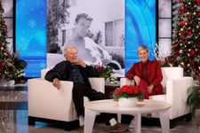 Clint Eastwood Stops By The Ellen DeGeneres Show And Talks About Being Her Studio Neighbor
