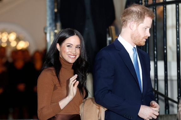 Meghan Markle Dazzles In Neutral Tones For First Appearance Of 2020