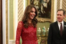 Kate Middleton Just Wore A Glittery Red Dress To Host A Buckingham Palace Reception