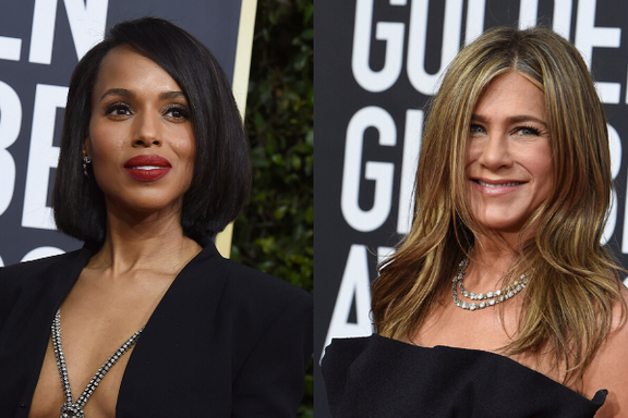 Jennifer Aniston And Kerry Washington Fangirl Over Each Other At The 2020 Golden Globes