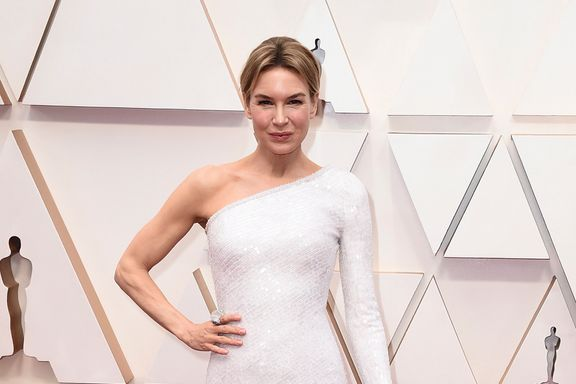Renée Zellweger Has Another Red Carpet Win In Sleek White Dress At 2020 Oscars