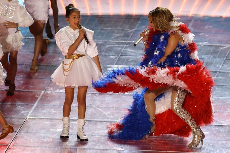 Jennifer Lopez's Daughter, Emme, Sang With Her During The Super Bowl 2020 Halftime Show
