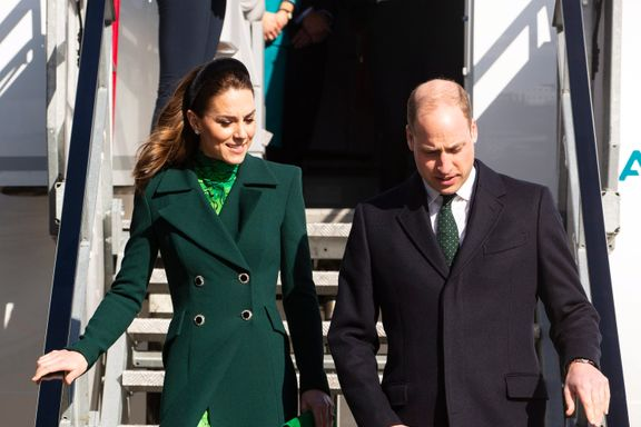 Kate Middleton And Prince William Touch Down In Ireland Wearing Coordinating Green Outfits