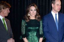 Kate Middleton Glitters In Emerald Green For Evening Reception In Dublin