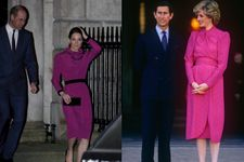 Kate Middleton Channels Lady Diana In '80s-Inspired Magenta Dress