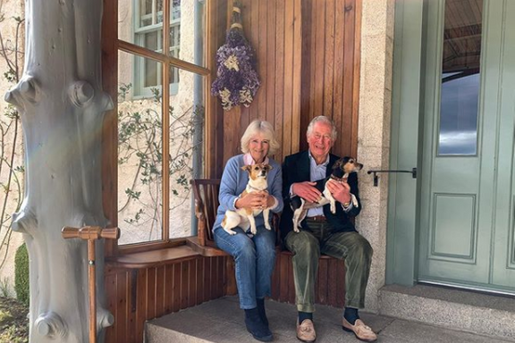 Prince Charles And Camilla Share Anniversary Photo In Isolation With Their Dogs