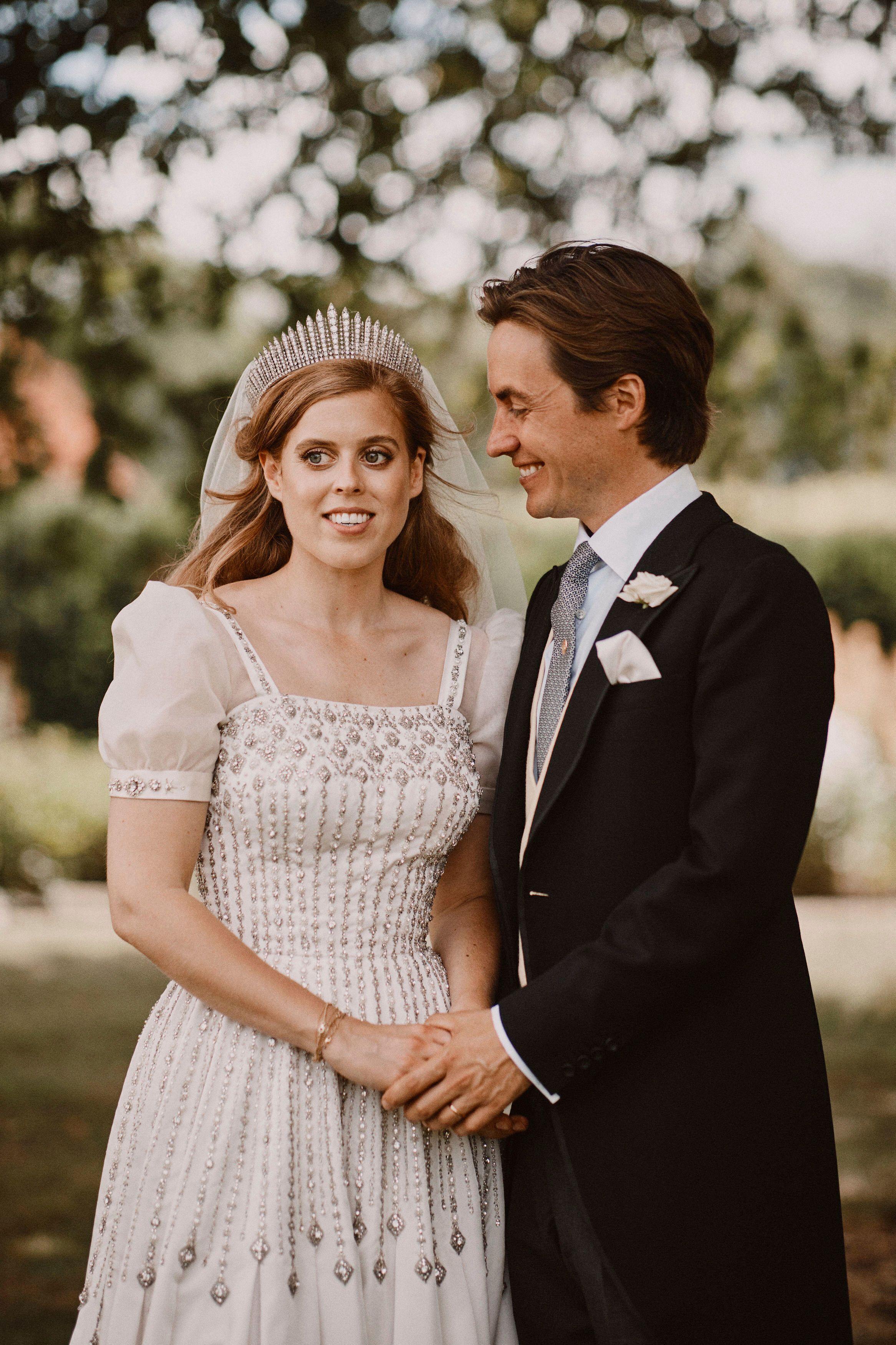 Princess Beatrice Wore Queen Elizabeth's Dress And Tiara For Her Wedding
