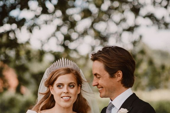 Princess Beatrice Wore Queen Elizabeth's Dress And Tiara For Her Wedding