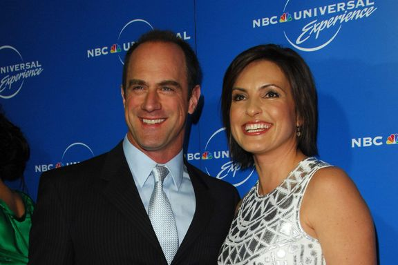 Christopher Meloni Shares On-Set Photo With Mariska Hargitay Ahead Of SVU Return