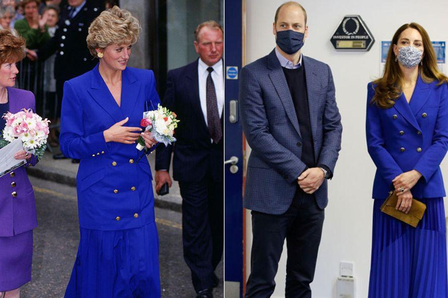 Kate Middleton Recreates Princess Diana's Iconic Blue Ensemble From The '90s